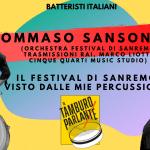 Tommaso Sansonetti, il Festival di Sanremo visto dalle mie percussioni