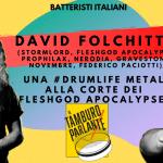 David Folchitto, una #drumlife metal alla corte dei Fleshgod Apocalypse